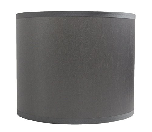 Urbanest Faux Silk Drum Lampshade, 12-inch By 12-inch By 10-
