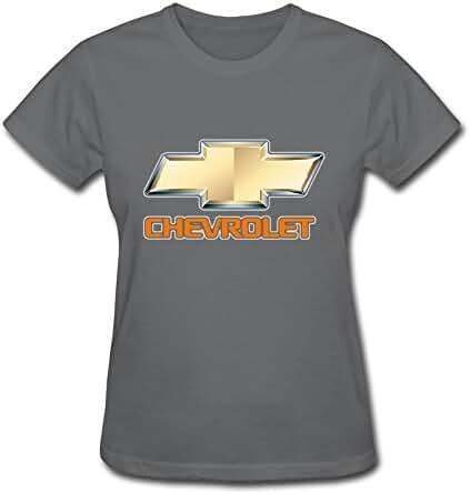 Van Women's American General Motors Chevrolet Car Brand Logo Tees Black