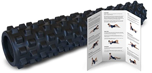 RumbleRoller Full Size 31 Inches Blue Original Textured Muscle Foam Roller Relieve Sore Muscles Your Own Portable Massage Therapist Patented Foam Roller Technology