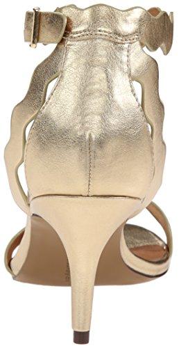 ... Chinese Laundry Kvinners Rubie Kjole Sandal Gull Metallic ...