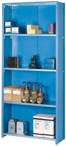 Lyon DD8039SGLV 8000 Series Closed Shelving Starter with 5 Galvanized Shelves, 36
