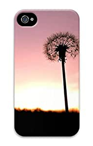 3D PC Case Cover for Iphone 5/5S Custom Hard Shell Skin for Iphone 5/5S With Nature Image- Dandelion Love