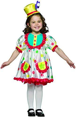 Rasta Imposta Girl Clown Costume, Size 4/6X, Dress, hat, Bloomers -