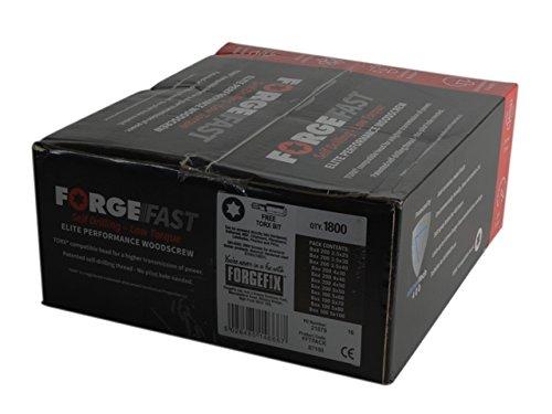 Forgefix - ForgeFast Torx® Compatible Wood Screw Pack 1800 Piece