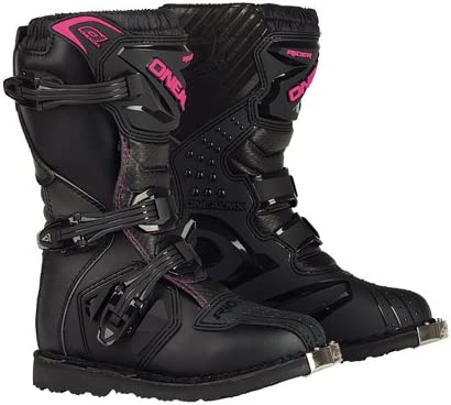 Black//Pink, Size 2 ONeal 0325-702 Girls New Logo Rider Boot