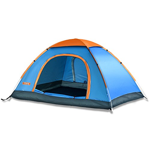 pop up tent by tswa automatic instant setup dome waterproof tents for backpacking 3 4 person. Black Bedroom Furniture Sets. Home Design Ideas