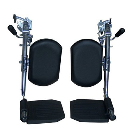 Drive Medical Elevating Legrests for Bariatric Sentra Wheelchairs, Chrome by Drive Medical