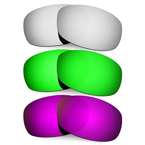 HKUCO Mens Replacement Lenses For Costa Brine Black/Emerald Green/Purple Sunglasses xVwOxHV