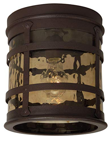 Outdoor Wall Sconces 1 Light Fixtures with Rustic Iron Finish Die Cast Aluminum Material Medium 8