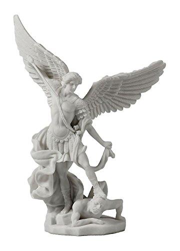 Saint Michael Archangel Slaying Demon Statue (Saints Angel Wings)