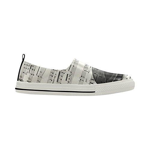 Note De Musique D-histoire Et Guitare Slip-on Microfibre Chaussures Sneaker