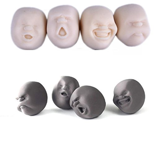 YIWULA Humorous Face Top Stress Pressure Reliver Vent Ball - Truck Stress Ball