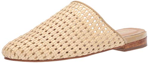 (KAANAS Women's Naxos Basketweave Flat Mule Slide Shoe Loafer, nautral, 9 Regular)