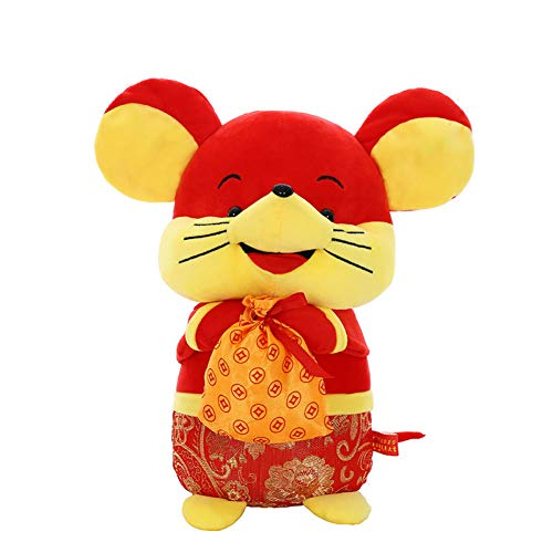 CTRDMRWJ Plush Toy Rat Year Mascot Plush Toy Doll Money Kangaroo Doll Gift (Kangaroo Rat Stuffed Animals)