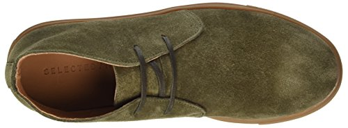 Selected Homme Dempsey Casual Lace-up Suede Chukka Boot Green uQgD3sfl