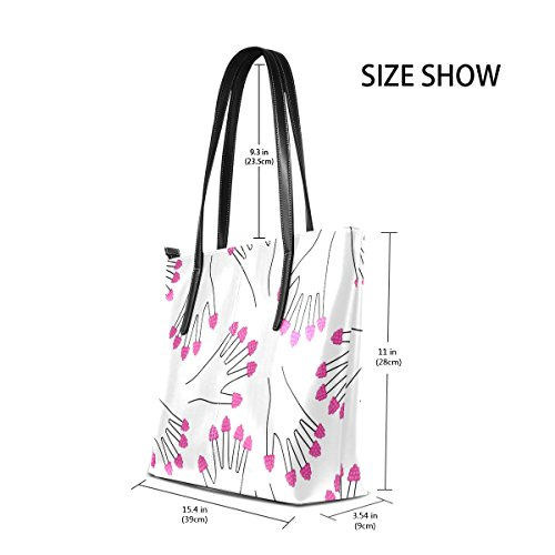 On Top Handbag TIZORAX Handle Raspberries Bags Totes All Women's PU Fingers Purses Leather Hand Fashion Shoulder RBwg5qS