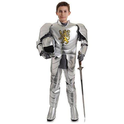 Shining Knight Costume (Underwraps Big Boy's Underwraps Boy's Shining Knight Costume, Medium Childrens Costume, silver, Medium)
