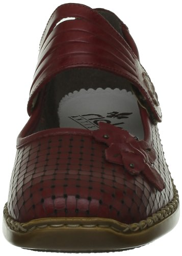 Rieker Doris, Damen Slipper Rot (Rosso/Rosso)