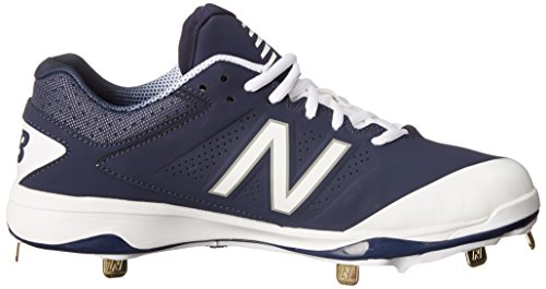 New Balance Men's L4040V3 Cleat Baseball Shoe Navy/White