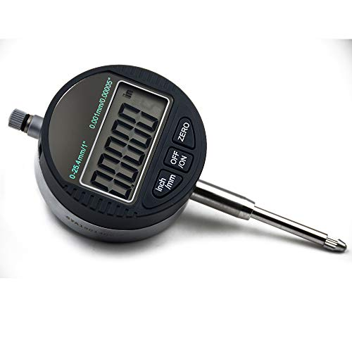 Indicator Dial Digital (Oudtinx Electronic Digital Dial Indicator Gage Gauge Inch/Metric Conversion 0-1 Inch/25.4 mm 0.00005 Inch/0.001mm)