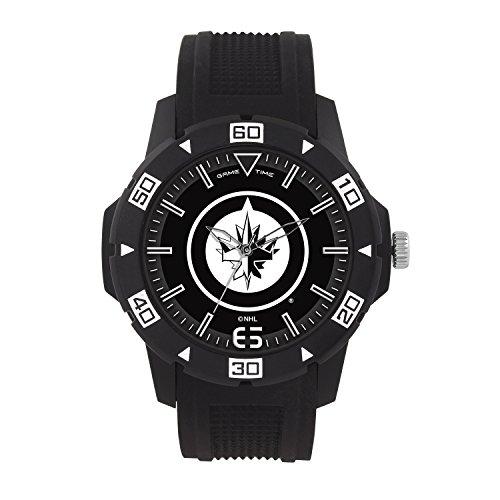 NHL Winnipeg Jets Mens Automatic Series Wrist Watch, Black, One ()