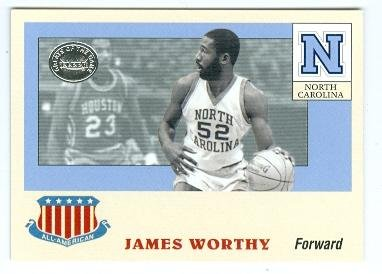 2001 Ncaa Basketball Final Four - James Worthy basketball card (North Carolina Tar Heels NCAA Final Four) 2001 Fleer All American #3