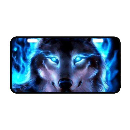 Wolf License Plate with High-resolution Images -11.8