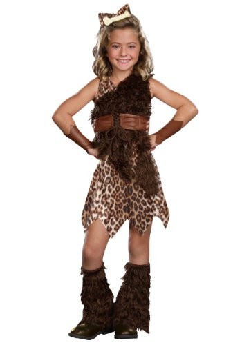 Dreamgirl Kids Cave Cutie Costume, Medium, 5-Piece -