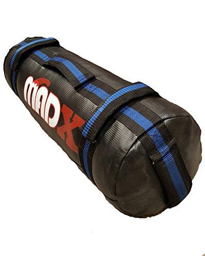 MADX Power Sand gefüllt, Training, Crossfit-Powerbag Sandsack 0, 30 kg, Schwarz mehrfarbig Schwarz/Blau 30 kg