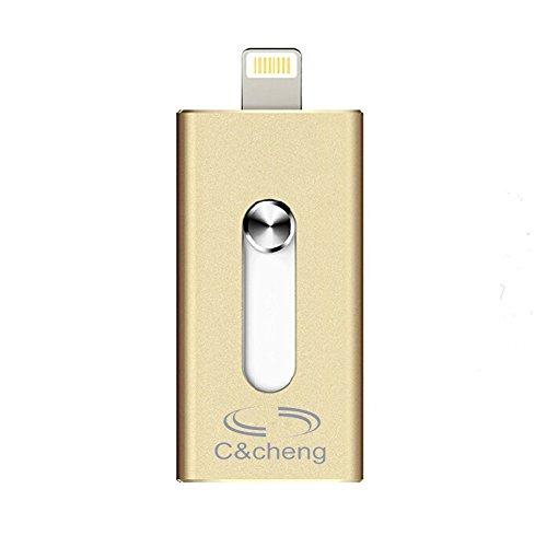 USB flash drive,Chicheng 16GB 32GB 64GB 128GB External storage U-disk Connector for iPhone 5/5s/5c/6/6 Plus/6s/6s Plus, iPad Mini 1/2/3/4, iPad Air/Air 2, iPad Pro(64GB)