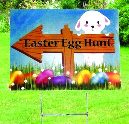 (Easter Yard Party Sign,Yard Decorations)