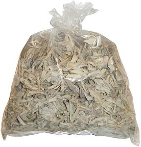 1 Pound California White Sage Loose with Smudge Feather