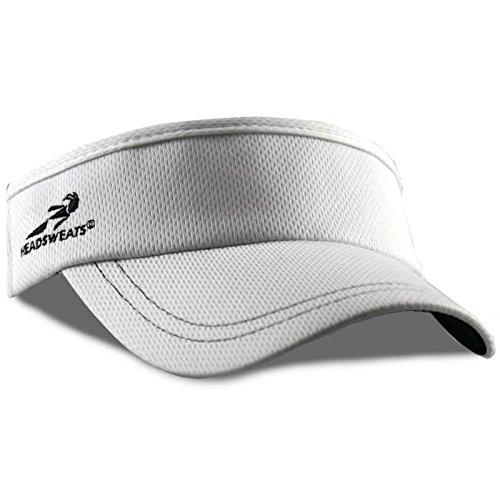Cotton Stretch Visor (Headsweats Supervisor Performance Sport Hat Visor, White)