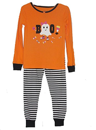 Girl's Size 3T HALLOWEEN Candy Trick Or Treat Ghost Pajama Set]()