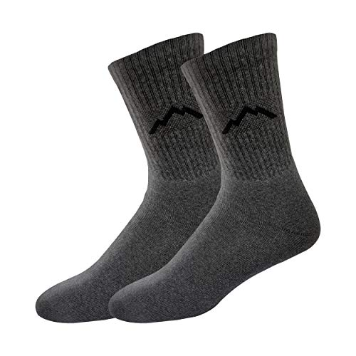 Ranger Sport Men's Heavy Duty Cotton Crew Athletic Socks, (Pack of 3 or 9 Pairs, Shoe Size: 7-12)