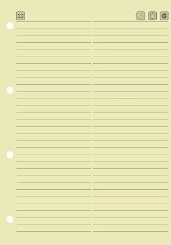 BRUNNEN 1064347 Einlage für Tasten-Telefonregister (149 x 212 mm) chamois, 1-er pack (10 Stück)