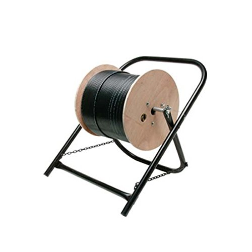 Cable Caddy Wire Cable Reel Spool Stand Cart Line Dispenser Cart for Pulling Wires and Cable, Durable Steel Foldable Frame 20