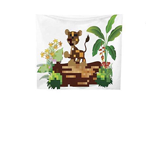 Gifts Lion Gorgeous Mountain (Sunset glow Pattern Tapestry Cartoon.jpg Baby.jpg Lion.jpg on.jpg Tree.jpg Trunk.jpg Gorgeous Tapestry 47W x 47L Inch)