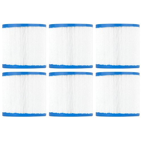 (Clear Choice Pool Spa Filter 4.25 Dia x 4.00 in Cartridge Replacement for Waterway Skim Filter Aladdin 11003, [6-Pack] )