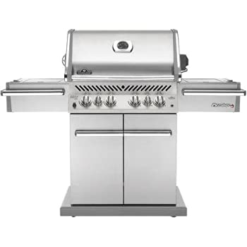 Napoleon P500RSIBNSS Prestige Natural Gas Grill with Rear and Side Infrared Burner Stainless Steel Doors and Lid