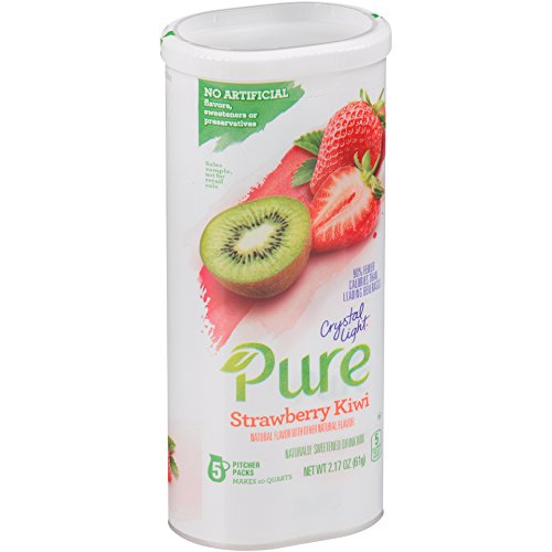 Crystal Light Pure Strawberry Kiwi Drink Mix, Pitcher Pack, 5 (Kiwi Mix)