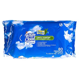 White Cloud Lightly Scented w/Aloe Wet Wipes (80 Wipes)