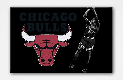 - SpecialArt4Home Chicago Bulls 23Canvas Oil Hand Painting Pictures Printed for Wall Art Décor, Home Living Bedroom Office Decorations with Stretched Framed - Ready to Hang