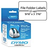 DYMO® Labels for LabelWriter® Label Printers LABEL,FILE FLDR,260/RL 0625B002 (Pack of8) by DYMO