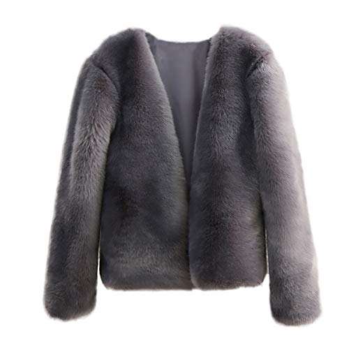 sintetica Lady corta Amuster Giacca Grey Hood invernale Donna Giacca pelliccia in per With 0Bfx1a