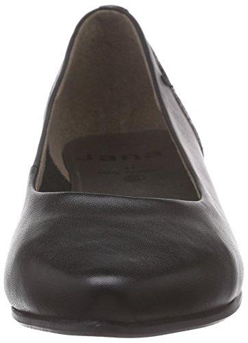 Noir du Pieds Noir Avant Chaussures 22200 Couvert Jana Talons à Femme qYXwAZqxz