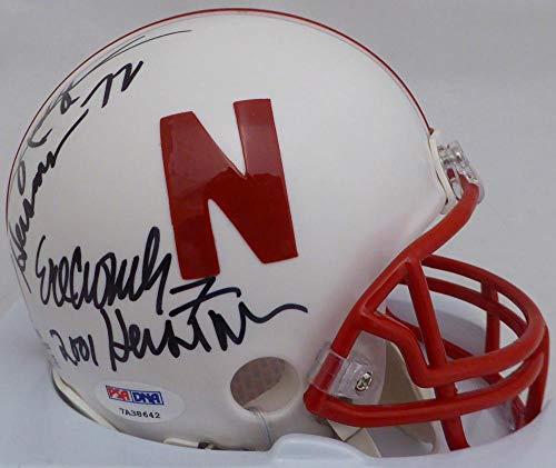 Eric Crouch & Johnny Rodgers Autographed Nebraska Cornhuskers Mini Helmet Heisman Winners With Inscriptions ITP #7A38642 - PSA/DNA Certified
