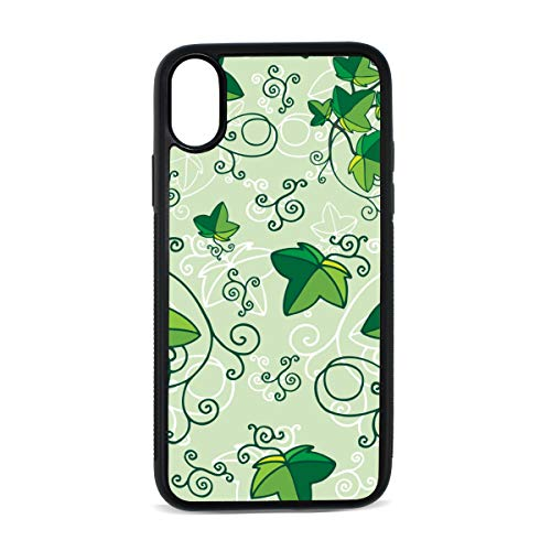 Ivy Hand Painted Vintage Spring Digital Print TPU Pc Pearl Plate Cover Phone Hard Case Cell Phone Accessories Compatible with Protective Apple Iphonex/xs Case 5.8 ()