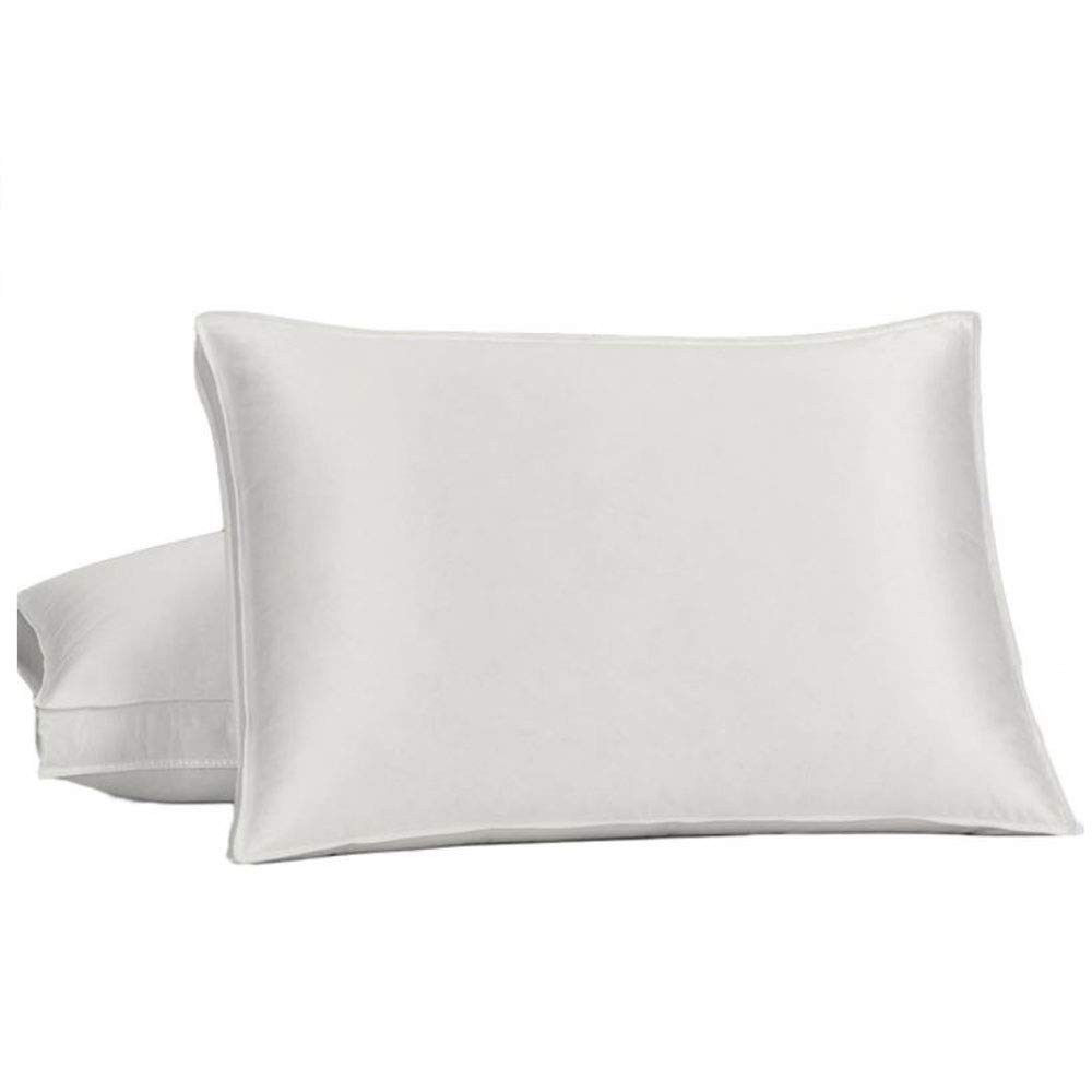 Royal Bedding Goose Down Pillow - 450 Thread Count Cotton-Silk-Blend Shell, King Size, Soft, 1 Single Pillow by Abripedic