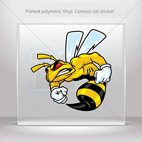 Decal Stickers Bee Hornet Wasp Decoration Waterproof Racing Vehicle Ta (7 X 6.93 Inches)